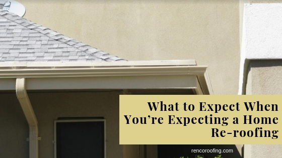 Home Re-roofing, What to Expect When You're Expecting a Home Re-roofing