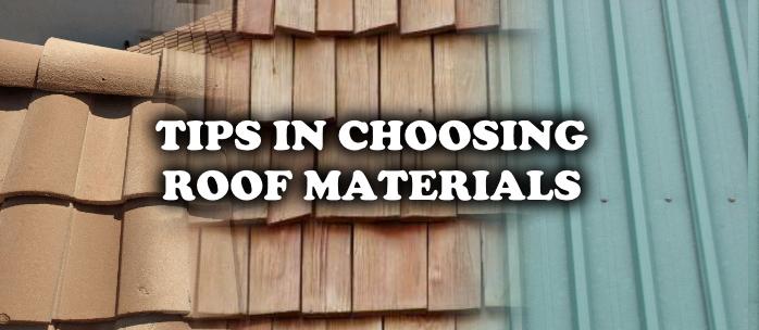 Choosing Roof Materials