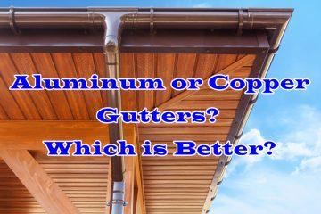 Aluminum or Copper Gutters