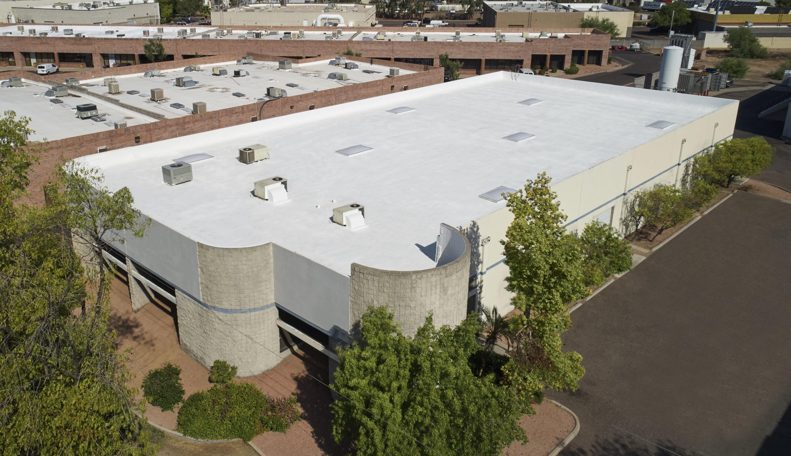 Commercial foam roof install